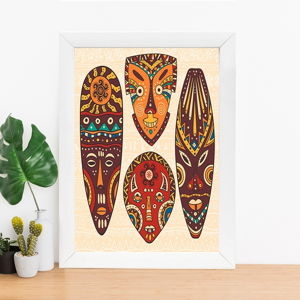 BC393434203 Multicolor Decorative Framed MDF Painting