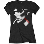 David Bowie - X Smoke Red Women's X-Large T-Shirt - Black
