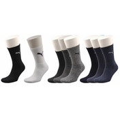 Puma Sports Socks UK Size 9-11 Navy Mix 3 Pack