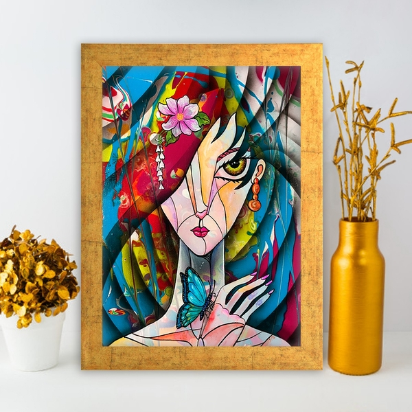 AC1548365255 Multicolor Decorative Framed MDF Painting