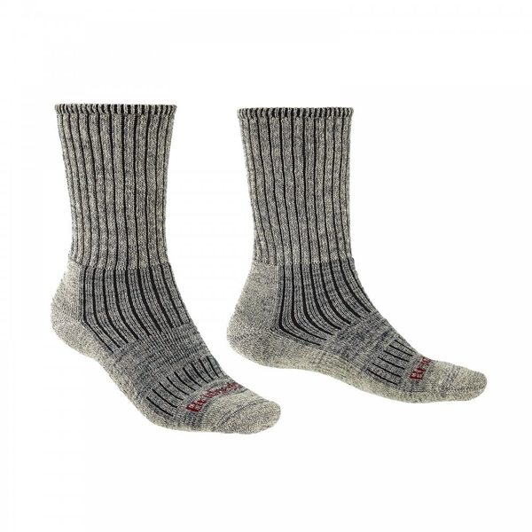 Bridgedale HIKE Midweight Merino Comfort Mens - Medium Stone Grey
