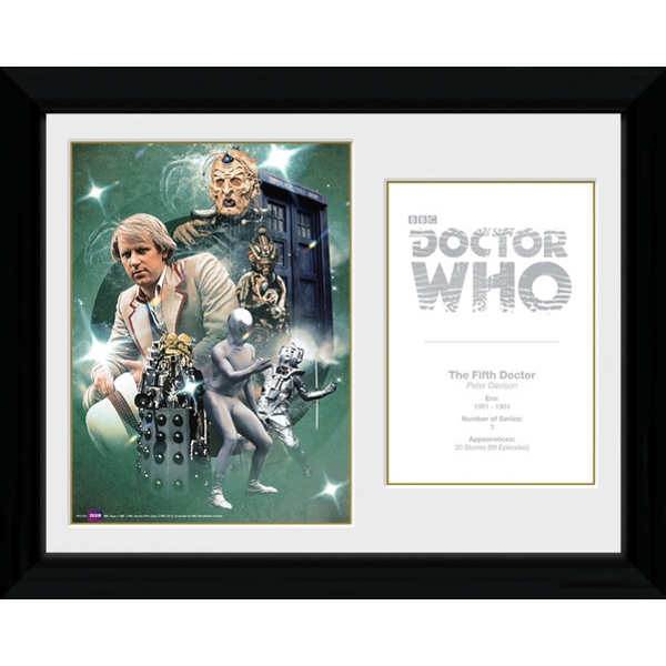 Doctor Who 5th Doctor Peter Davison Framed Photographic Print