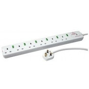 Tacima 6 Way Switched Surge Protector 2M Lead UK Plug