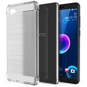 CASEFLEX HTC DESIRE 12 CARBON ANTI FALL TPU CASE - CLEAR