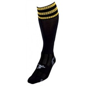 PT 3 Stripe Pro Football Socks Mens Black/Gold