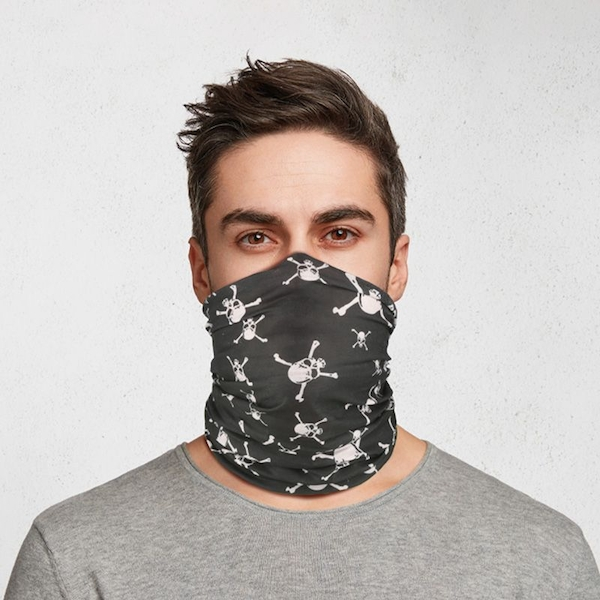 Skull and Cross Bone Pirate Neck Scarf Face Covering