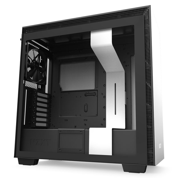 Image of NZXT H710 E-ATX Mid-Tower PC Case - White & Black, White