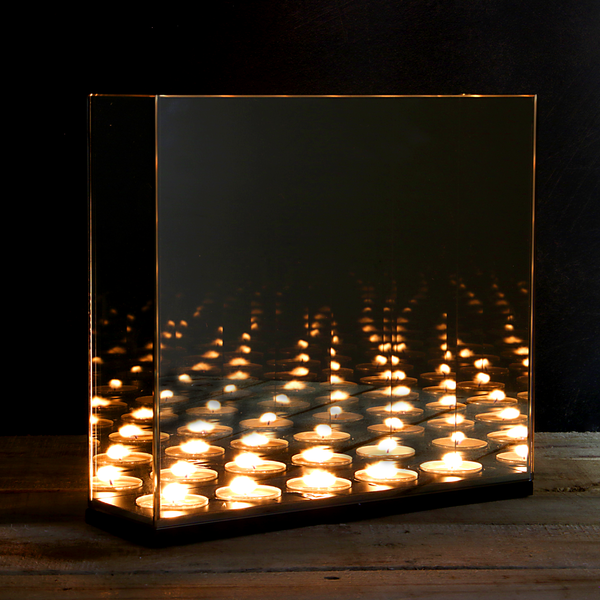 Tea Light Infinity Candle Mirror Box | M&W