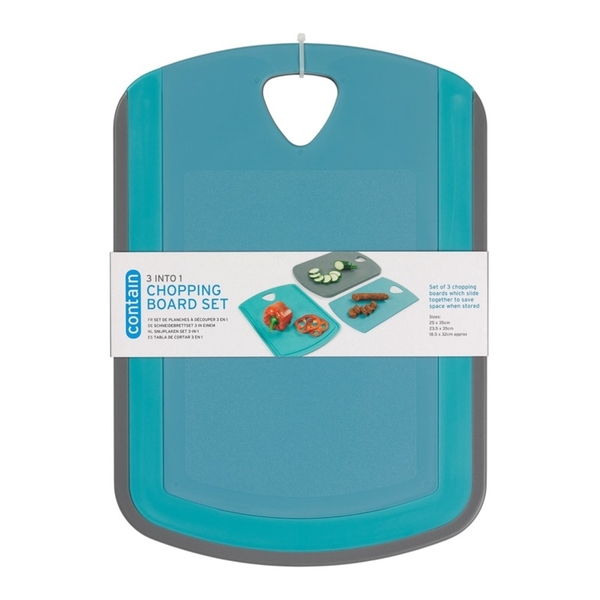 Chef Aid Contain Nesting Chopping Board Set
