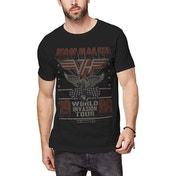 Van Halen - Invasion Tour '80 Men's Small T-Shirt - Black