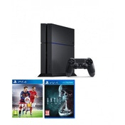 PlayStation 4 C-Chassis (500GB) Black Console with FIFA 16 & Until Dawn