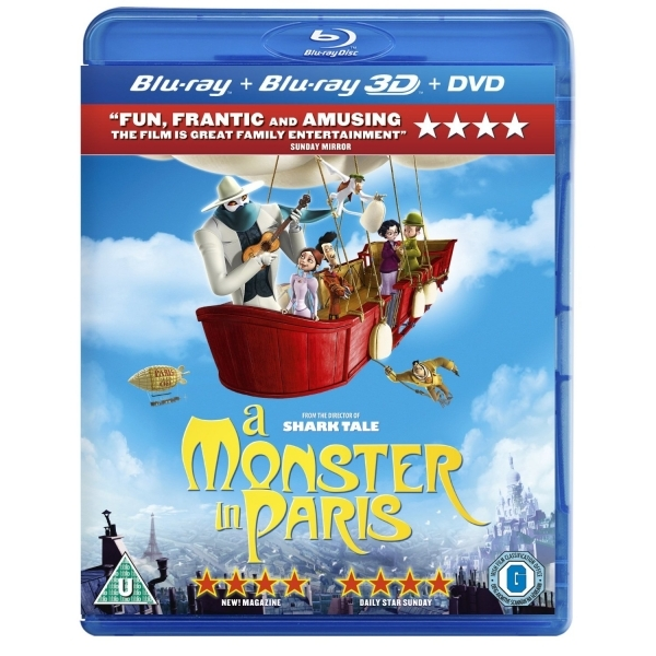A Monster in Paris 3D Blu-ray