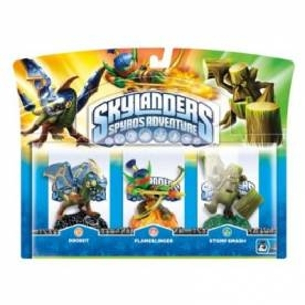 Drobot, Stump Smash, and Flameslinger (Skylanders Spyro's Adventure) Triple Character Pack A (Ex-Display) Used - Like New