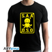 Assassination Classroom - S.A.A.U.S.O Men's Large T-Shirt - Black - Image 2