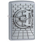 Zippo Safe with Gold Cash Surprise Street Chrome Windproof Lighter