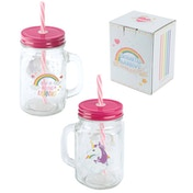 Unicorn Glass Mason Drinking Jar