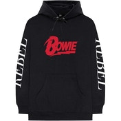 David Bowie - Rebel Rebel Men's Large Pullover Hoodie - Black