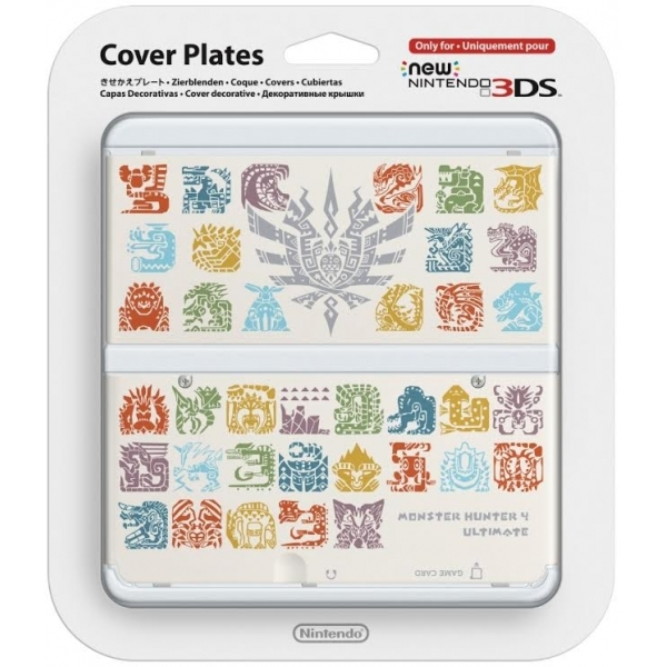 New Nintendo 3DS Cover Plates Monster Hunter 4 Faceplate White