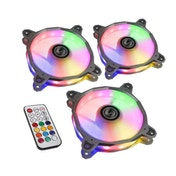 Lian Li BR RGB PWM 120mm Fan with Remote Fan Controller Triple Pack - Silver