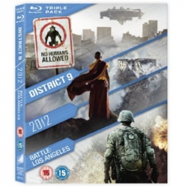 District 9 / 2012 / Battle Los Angeles Blu-Ray Triple Pack Blu-ray