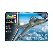 Hawker Hunter FGA9 100 Years RAF (British Legends) 1:72 Revell Model Kit
