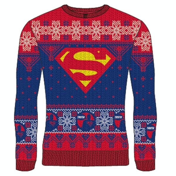 Image of DC Superman - Logo Truth Unisex Large Knitted Jumper - Multi-Colour