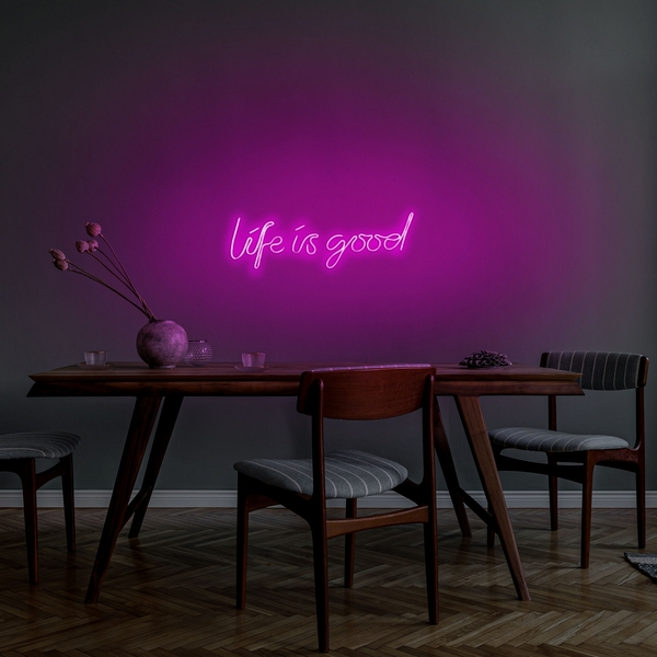 Life Is Good - Pink Pink Wall Lamp