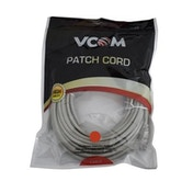 VCOM RJ45 (M) to RJ45 (M) CAT5e 15m Grey Retail Packaged Moulded Network Cable