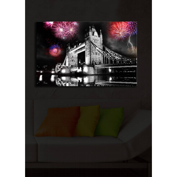 4570?ACT-17 Multicolor Decorative Led Lighted Canvas Painting