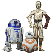 C-3PO & R2-D2 & BB-8 (Star Wars Episode VII) PVC Statue 3-Pack