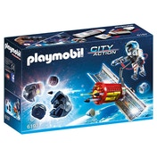 Playmobil City Action Satellite Meteoroid Laser with Destroyable Meteor