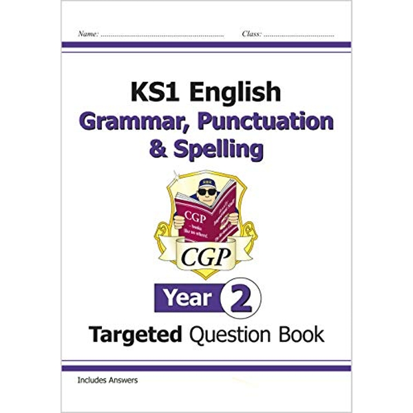 KS1 English Targeted Question Book: Grammar, Punctuation & Spelling - Year 2 by CGP Books (Paperback, 2014)