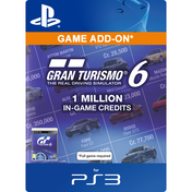 Gran Turismo 6 (GT6) PSN Card For 1 Million Credits PS3 PSN Digital Download