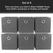 Set of 6 Collapsible Storage Boxes | M&W Grey - Image 4