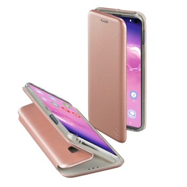 Hama Curve Wallet Case for Samsung Galaxy S10, Rose Gold
