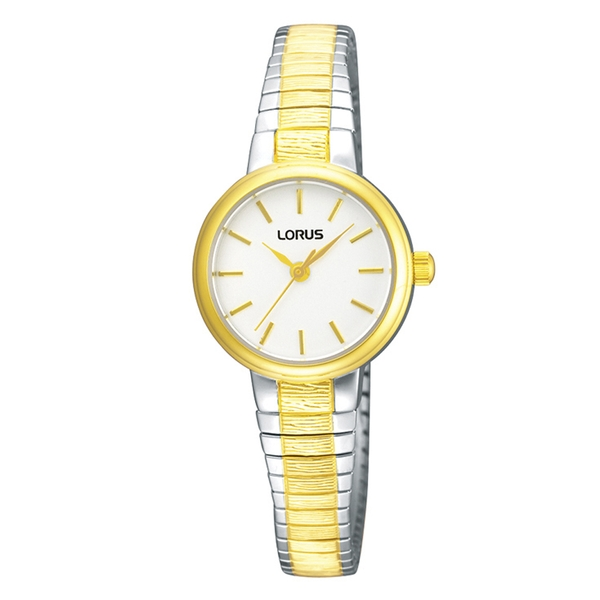 Lorus RG238NX9 Ladies Gold Plated Two Tone Expanding Bracelet Watch