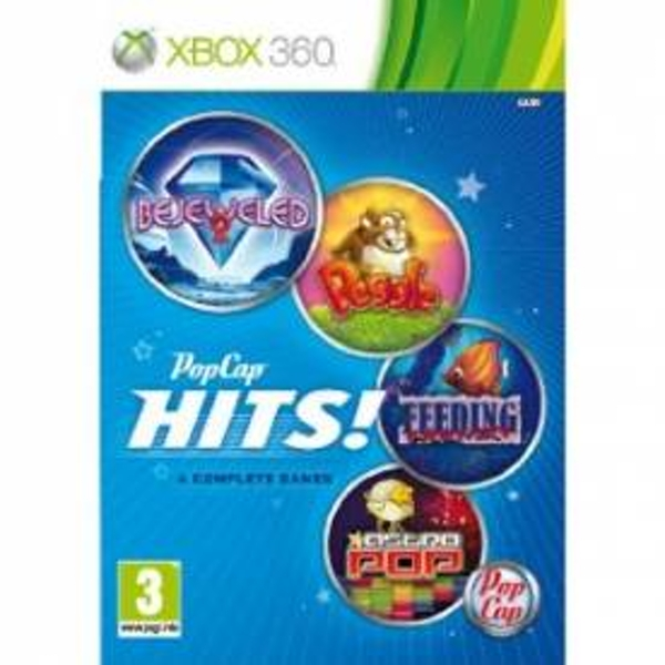 PopCap Hits Volume 1 Game (Bejeweled 2 / Astro Pop / Peggle / Feeding Frenzy) Xbox 360