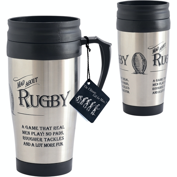 Ultimate Gift for Man Travel Mug Rugby