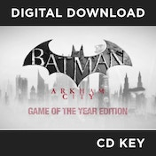 Batman Arkham City Game of the Year Edition GOTY PC CD Key Download for Steam