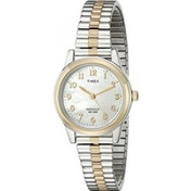 Timex Classic Women's T2M828 Quartz Watch with Gold Dial Analogue Display and Multicolour Stainless Steel Bracelet