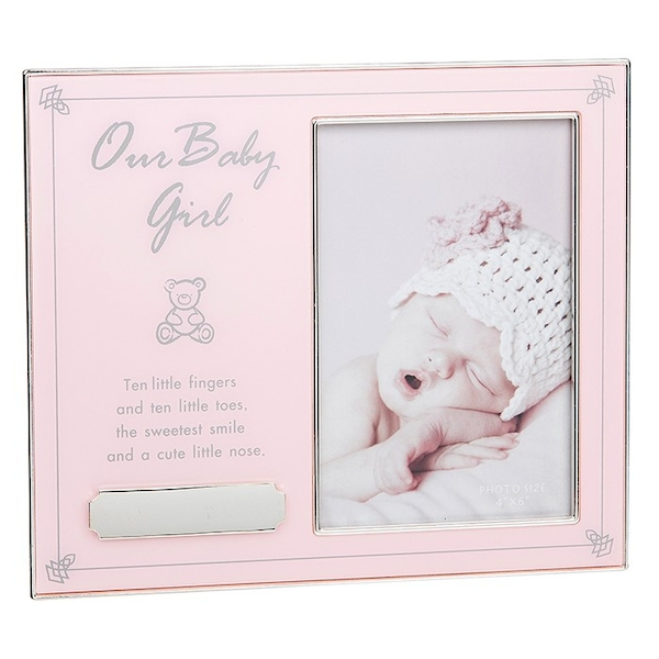 Our Baby Girl Engraveable Frame 4x6