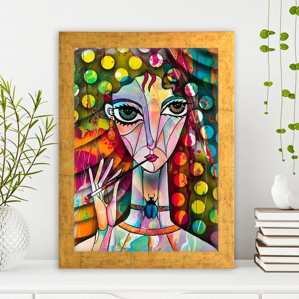 AC1548363803 Multicolor Decorative Framed MDF Painting
