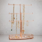 Rose Gold Jewellery Tree Stand | M&W