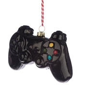 Game Over Game Controller Glass Christmas Bauble Decoration