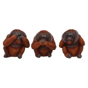 Three Wise Orangutans Figurines