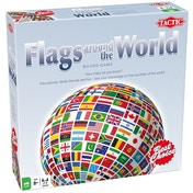 Ex-Display Tactic Games Flags Around The World Board Game Used - Like New