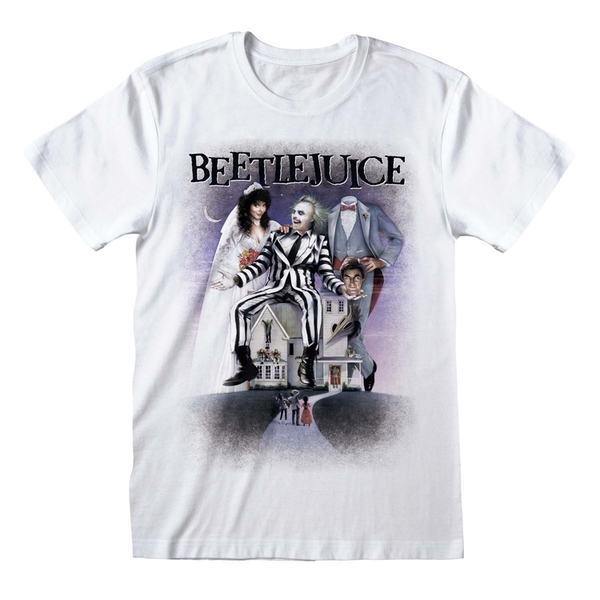 Beetlejuice - Poster White Unisex Medium T-Shirt - White