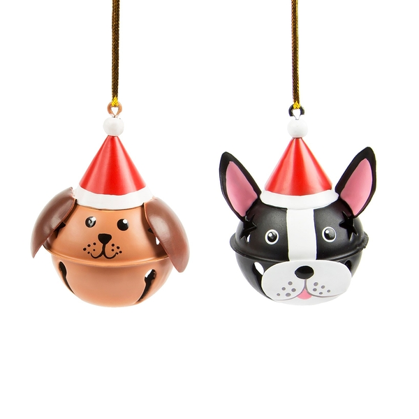 Sass & Belle Festive Dog Hanging Bell Decoration (One Random Supplied)