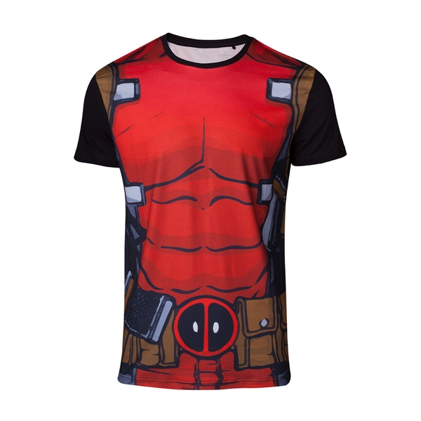Deadpool - Suit Sublimation Men's Small T-Shirt - Red