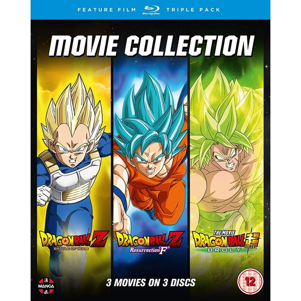 Dragon Ball Movie Trilogy (Battle Of Gods, Resurrection F & Broly) Blu-ray